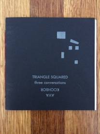 triangle squared, by ava koohbor (bootstrap press) - designed in collaboration with the author and publisher, printed at impart ink