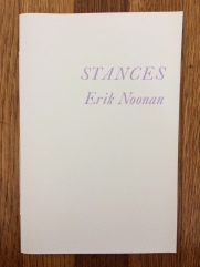 stances, by erik noonan - designed in collaboration with the author and printed at impart ink