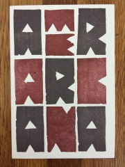 linocut by jack whittington, printed at impart ink