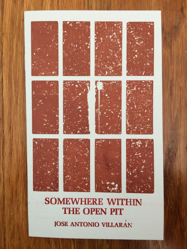 Somewhere within the Open Pit, by Jose Antonio Villaran -- designed and printed at Impart Ink